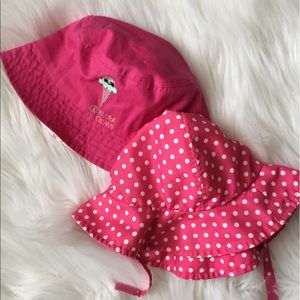 Bundle of Two Pink Toddler Sun Hats